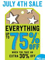 Скидки 75% на сайте crazy8.com