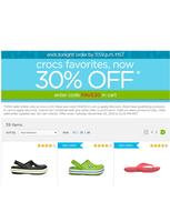 Скидка -30% на сайте crocs