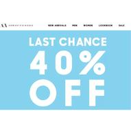 Скидки -40% A|X Armani Exchange
