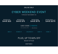 Cyber weekend на сайте Ralph Lauren