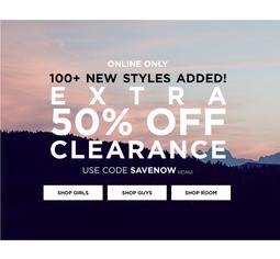 Минус -50% на клиренс сайт Aeropostale