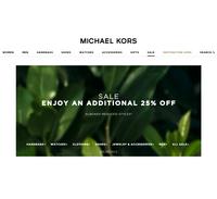 Дополнительная скидка-25% сайт Michael Kors