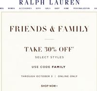 Акция -30% на сайте Ralph Lauren