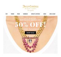 Скидка 50% на ювелирные украшения сайт Juicy Couture
