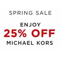 Дополнительная скидка -25% на сайте Michael Kors