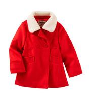 Детское пальто с воротником Oshkosh для девочки