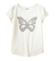 """Детская футболка для девочки Crazy8 """"Бабочка"""""""